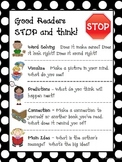 Reading Comprehension Strategies - Good Readers STOP and Think (polka dot)
