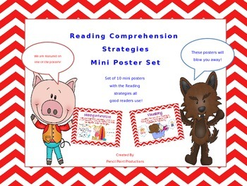 Reading Comprehension Strategies Mini Poster Set