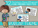 Reading Comprehension Strategies Posters  - Burlap Theme