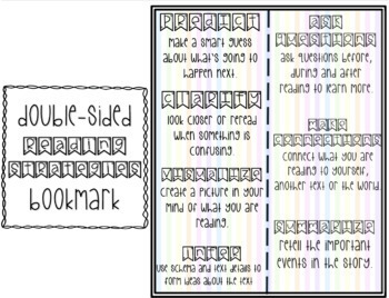 Reading Comprehension Strategies Posters & Student Response Sheets