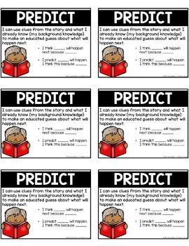 Reading Comprehension Strategies Posters and Cards Set