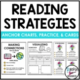 Reading Comprehension Strategies Anchor Charts, Cards, Pra