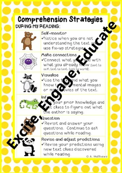 Reading Comprehension Strategies Process {Beanie Babies}
