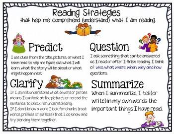 Reading Comprehension Strategies Poster RTI *freebie*