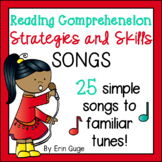 Reading Comprehension Strategies & Skills Songs: Posters, MP3's, and PowerPoint