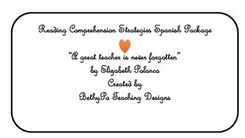 Reading Comprehension Strategies Spanish Package