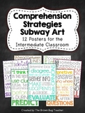 Reading Comprehension Strategies Subway Art Posters {12 Posters}