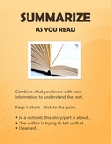 Reading Comprehension Strategies: Summarize Poster
