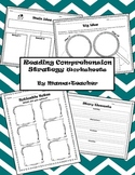 Reading Comprehension Strategies Worksheet Package