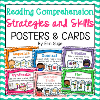 Reading Comprehension Strategies and Skills Posters and Cards