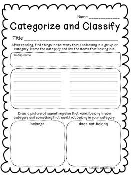 Reading Comprehension Strategies and Skills Worksheets