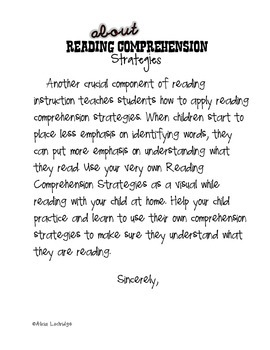 Reading Comprehension Strategies for Parents