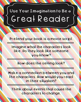 Reading Comprehension Strategy Poster, Language Arts, Anchor Chart