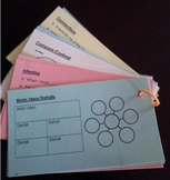 Reading Comprehension Strategy Cards Ring for Reading Notebook Responses