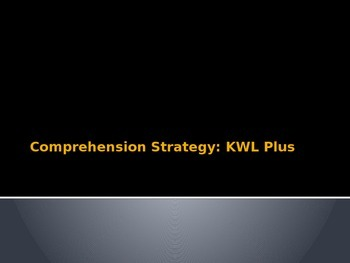 Reading Comprehension Strategy KWL Plus Informational Powerpoint