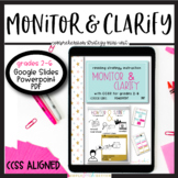 Reading Comprehension Strategy Monitor and Clarify Unit- Digital and Print