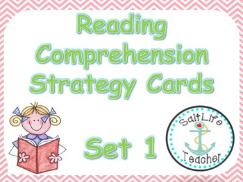 Reading Comprehension Strategy Poster Cards Set 1
