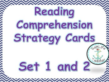 Reading Comprehension Strategy Poster Cards Set 1 & 2
