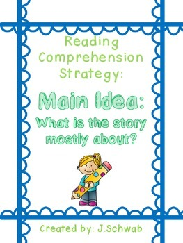 Reading Comprehension Strategy Poster: Main Idea