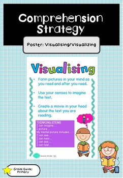 Reading Comprehension Strategy Poster - Visualising/Visualizing