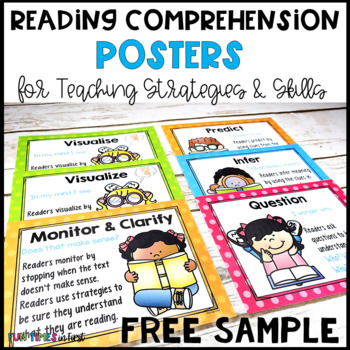 Reading Comprehension Strategy Posters FREE