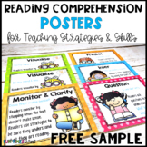 Reading Comprehension Strategies Posters FREE