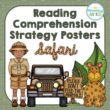 Reading Comprehension Strategy Posters- Safari Jungle Theme