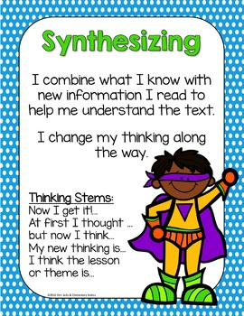 Reading Comprehension Strategy Posters- Superheroes