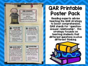 Reading Comprehension Strategy: QAR Poster Printables