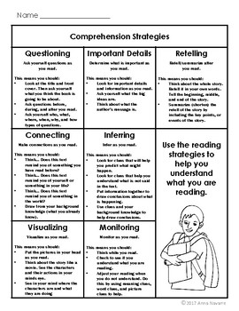Reading Comprehension Strategy Resource Packet