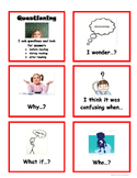 Reading Comprehension Strategy Conversation Starter Cards