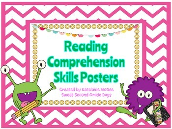 Reading Comprehension Skills Posters - Monsters