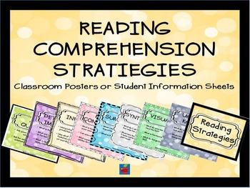 Reading Comprehension Stratiegies Classroom Posters