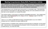 Reading Comprehension Study Skills Presentation Activity