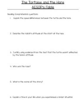 Reading Comprehension - Sub Plans