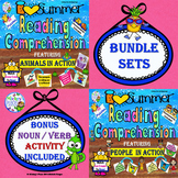 Reading Comprehension Summer Bundle:  Animals in Action an