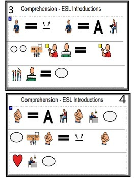 Reading Comprehension Symbol Assisted Passages for ESL Readers {Introductions}