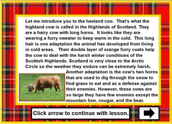 Reading Comprehension Targeting Main Idea & Drawing Conclusions - Scotland Theme