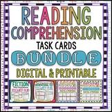 Reading Comprehension Task Card Bundle | Distance Learning