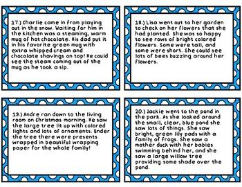 Reading Comprehension Task Card Bundle