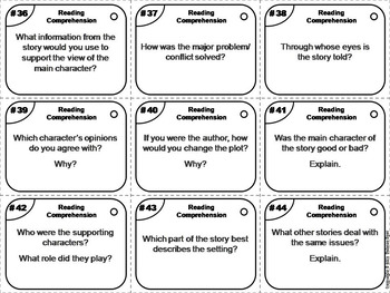 Reading Comprehension Task Cards/ Asking and Answering Questions Activity