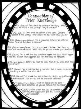 Reading Comprehension Task Cards (B&W Color Me! Edition)