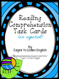 Reading Comprehension Task Cards (Color-Coded by Strategy) - in Spanish!