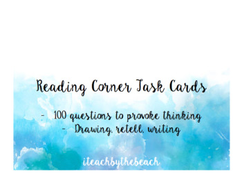 Reading Comprehension Task Cards EDITABLE