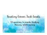 Reading Comprehension Task Cards EDITABLE