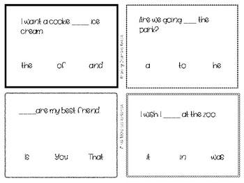 Reading Comprehension Task Cards - Level 1