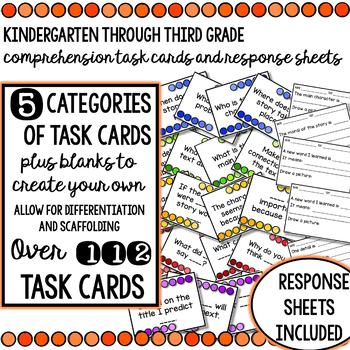 Reading Comprehension Task Cards and Response