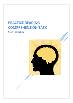 Reading Comprehension Task Year 11