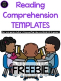 Reading Comprehension Templates Freebie!
