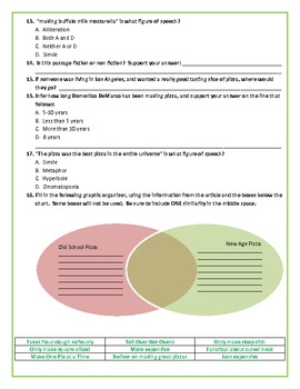 Reading Comprehension Test #4